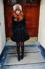 Olivia Purvis - Primark Furry Hat, Topshop Coat, Tesco Wedges - As the winter winds, litter London with lonely hearts
