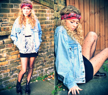 Taylor Gymer - Urban Outfiters Vintage Jacket, Topshop Top - I wonder what you think of me...