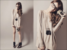 Tricia Gosingtian - Mango Oversized Top, Rebel Gear Necklace, Gold Dot Abella Wedges - 102810