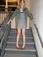 Alison V. - H&M Army Shirt, Minnetonka Moccasins - Have you ever