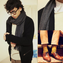 Pascal Grob - Rachel Comey Shoes, Acne Studios Shirt, Moscot Glasses, Dad's Wool Scarf, Acne Studios Cardigan, Cos Sweater, Asos Trousers, American Apparel Socks - 5108487087