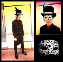 Henri K - Do It Yourself Freaky Google Eyes Mask, Do It Yourself Black Feather Customised Top Hat - ☠ Welcome to the Halloween Imaginarium of Doctor Henri ☠