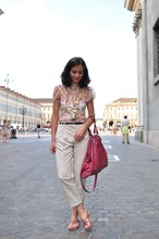 Cecile A. - No Brand   From London Shirt, Zara Trousers, Aridza Bross Bag, K.Jacques Shoes - Piazza San Carlo