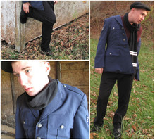 Brandon W - Thrifted Air Force Uniform Jacket, Kangol Wool Flat Cap - Hello I'm In Delaware