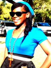 Anele Masikane - No Name Ray Bans, Vintage Shirt, Edgars My Skirt, Mr Price Cross - Life in the sun...