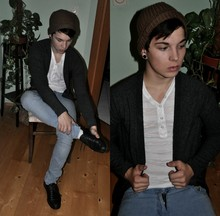 Sebastian Strasser - Zara Brown Hat, H&M Cardigan - You can`t tell me nothing.