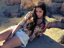 Rubi Ortiz - Thrifted Floral Top - Somewhere by the Sea.