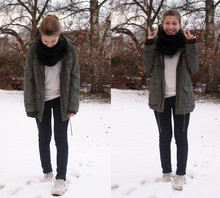 Elinor - H&M Parka, Cheap Monday Jeans, H&M T Shirt, Converse - Just another winter