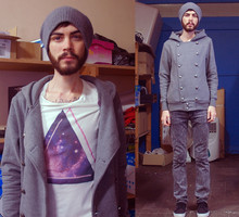 Tony Stone - Self Military Jacket, Topman Cosmo T Shirt - Cosmo Triangle. So hype.