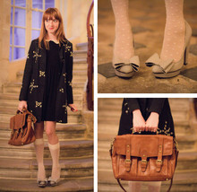 Eleonore Bridge - Miss Selfridges Disney Heels, Asos Schoolbag - Paris stairs