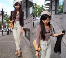Rebecca Wang - Asos Studded Blazer, Chanel Classic, Cheap Monday High Rise Jeans, Forever 21 Top, Aldo Platforms - Early fall