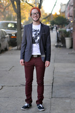 Bobby Hicks - Levi's® Burgundy Jeans, H&M Blazer, Target Awesome Beanie, Garcon Chic Napoleon - Know Napoleon.