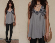 Cheyser Pedregosa - Forever 21 Patterned Tights, Greenhills Babydoll Top - Do i bore you?