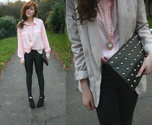 Nadine B - Topshop Blazer, Primark Clutch, Vintage Blouse, Dorothy Perkins Necklace - Maybe its just not good enough