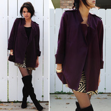 Trang Huyen - Diane Von Furstenburg Jacket, Kors Skirt, Knee Highs - Plum.