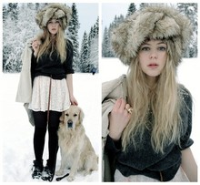 Amanda Brohman - H&M Knitted Sweater, Boticca Reindeer Ring, Monki Fur Hat - Siberian Saturday