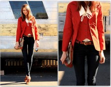 Megan S - Thrifted Jacket Set, James Jeans, Shoes, Dooney & Bourke Bag - ORANGE YOU GLAD...