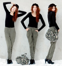 Ebba Zingmark - Gina Tricot Bag, Pants, 2hand Hat, Dinsko Shoes - We're the trees that's still green in november