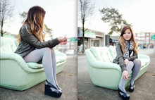 Nicole S. - Mackage Leather Jacket, Jeffrey Campbell Mariel Wedge - I want to change the orbit