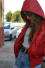 Marta Castellanos - Faux Leather Jacket, Vintage Belt - Little red riding hood