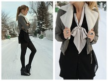 Vicktoria F - H&M Fake Sheepfur From Another Jacket, Mango Jacket, Lindex Transparant Shirt, H&M Wedges - BOW AND SNOW