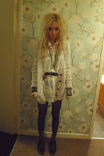 Abby Hewitson - Topshop Cardigan, American Apparel Shirt, Topshop Belt, Topshop Arm Cuffs, Asos Shoes - Boxing Day