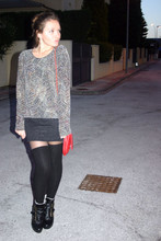 Marta Castellanos - Humana Second Hand Top, Primark Skirt, Calcedonia Long Socks, Blanco Booties - GRINCH