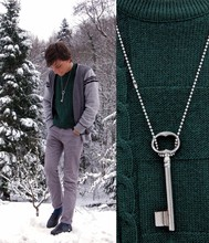 Samuel S. - Lacoste Vintage Emerald Jumper, Vintage Key (Not For My Heart), Vintage Mocassins - Spanish Sahara