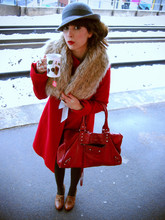 Valentine Hello - Balenciaga Weekender, L'echarpe Faux Fur Collar, Zara Coat, Asos Hat - A Tea with...