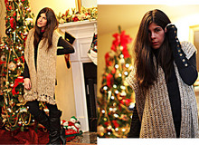 Erika Marie - Belgium Scarf, Gucci Boots, Delias Glove, Danskin Leggings - New Year's Eve Party