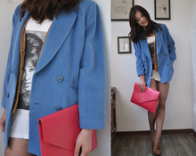 April 0317 - Romwe Vintage Suit, Candy Girl Red Purse - Hello~2011~busy day will coming~