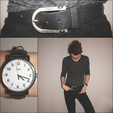 "Dayne Tank - China Lucky Belt, Timex ""Modern Orignial"" Watch, Urban Outfitters Cloud Pocket Slub Tee, West 49 Black Corduroy Pants - All Played Out."