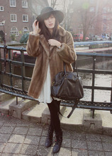 Laura Gommans - Vintage Hat And Coat, Modcloth Dress, Invito Bag - 4th of January