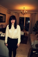 Siani Warner - Topshop Bodycon Skirt, H&M Lace Shirt - My eighteenth birthday on new years eve