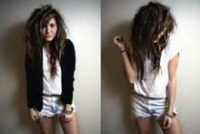 Bethany Olson - Forever 21 Blazer, Forever 21 White Baggy Tee, Levi's® Vintage Shorts - You Know What It is