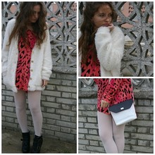 Marta Castellanos - H&M Animal Print Top, Blanco Boots, Bikbok Coat, Vintage Bag - It´s my life
