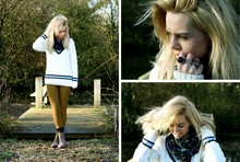 Chloe Waugh - Cricket Jumper, American Apparel Flannel Scarf, American Apparel Riding Pants, H&M, H&M, Forever 21 - ANOTHER SUNDAY