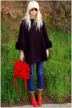 Coury Combs - Vintage Red Loafers, J. Crew Socks, Uo Jeans, Asos Bag, Ruffian For Anthro Coat - Only happy endings, that's our recipe!