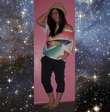 Katie S - Marc By Jacobs Bracelet, Sparkle And Fade Top, Zara Trousers, Steve Madden Flats, Vintage Belt - Galaxy