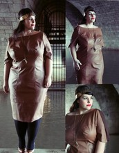 Stephanie - BigBeauty Zwicky - Monif C Leather Dress, Steve Madden Shoes, Moon Raven Design Crow, Tamd3m Headband - + Diane +