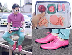 KIKO CAGAYAT - H&M Wayfarer, Ralph Lauren Polo Shirt, Topman Mint Pants, H&M Versace For Laced Shoes, Touch Zero Gravity Lunch Time Ipad Cover - How about my coffee?