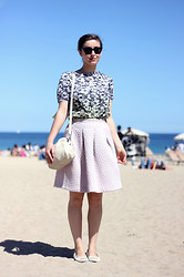 Adela S. - H&M Lilac Skirt - A summer feeling