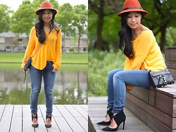 Lily T - Zara Yellow Sweater, Supertrash Hat, Rebecca Minkoff Rm Bag - COLOR TRANSITION