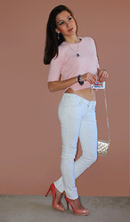 Beauty Mark Lady - Topshop Sweater, Chanel Purse, Jessica Simpson Heels - Pink is not just a color, it's also an attitude.