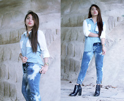 Ira Otivar - Chevignon Tunic Shirt, Chevignon Tie Die Slim Taper Denim, Zara Ankle Boots - The Legend of Denim