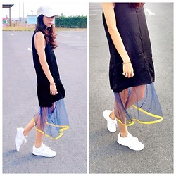 Ployy B - Liberty Love Dress, Zara Trainners, Ppb Studio Cap - Parking lot
