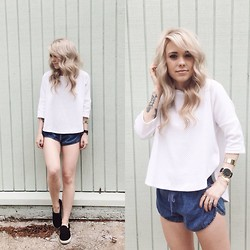 Mary Ellen Skye - Deletta Top, Forever 21 Shorts, Steve Madden Sneaks, Larsson And Jennings Watch - Clean & simple