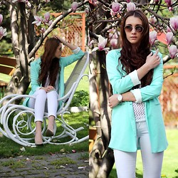 Alicja Waligóra - Sheinside Blazer - Mint jacket