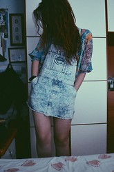 Polly Alba - Vintage Shirt, Pull & Bear Overalls - There'll be no rest for the wicked