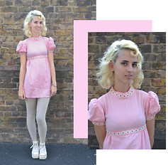 Flower Perdew - Let Me Wear This Pink Baby Doll Dress, Converse Platform - Shooting Star